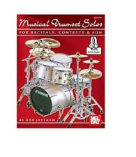 Mel Bay 21077M Musical Drumset Solos for Recitals, Contests and Fun & Ships Free