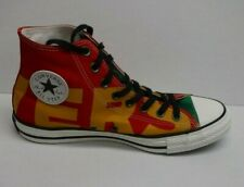 Converse Size 10 Red Green High Top Sneakers New Mens Shoes