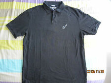 Nautica Classic Pique Men Black Collared T-Shirt (XL) 1pcs