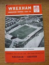 23/08/1969 Wrexham v Chester . Any faults with this item will have beeen noted