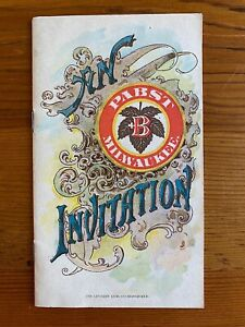 Pabst Milwaukee Beer Invitation 1893 Columbian Exposition Color Souvenir Booklet
