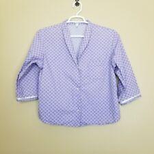 Gap Body pajamas womens purple ribbon trim detail size xl