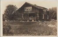 New York NY Real Photo RPPC Postcard c1910 DE BRUCE One of the COTTAGES