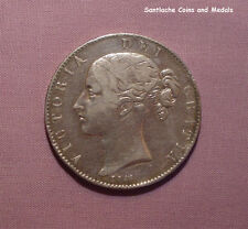1844 QUEEN VICTORIA YOUNG HEAD CROWN - Cinquefoil Stops