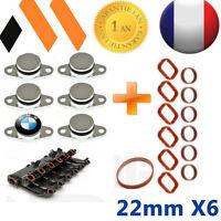 6 BOUCHONS CLAPET VOLET D'ADMISSION  22 MM BMW ++JOINTS 330D 330CD 320D 530D