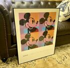 """ANDY WARHOL RARE 1981 """"THE ART OF MICKEY MOUSE"""" LITHOGRAPH PRINT POP ART POSTER"""