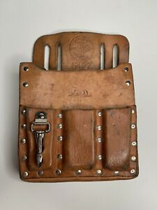 Vintage Klein Tools Leather Tool Belt Pouch 5127