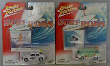 Johnny Lightning  2003 Surf Rods-1966 VW SAMBA BUS & BEETLE 1:64