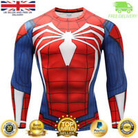 Mens compression top gym superhero avengers marvel muscle spider man MMA Cycling