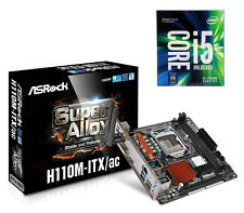 COMBO: Intel Quad Core i5-7600K Kaby Lake CPU & ASRock H110M-ITX/AC Wi-Fi MB NEW