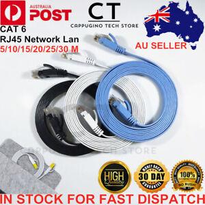 2/5/10/30m CAT6 Flat Ethernet Cable RJ45 Lan Network Cord Computer Router Laptop