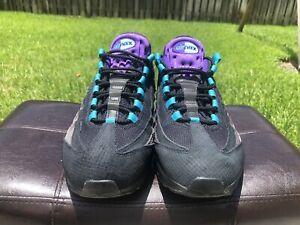 Nike Air Max 95 11.5 Black Grape. Black / Court Purple - Teal Nebula