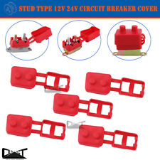 5x Circuit Breaker Cover Protective 12V 24V Stud Type Insulated PVC Protector