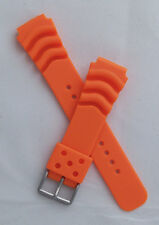 20 mm polyurethane PU rubber watch strap to fit Seiko/Citizen etc divers watches