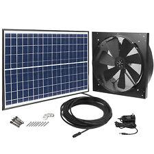 Garage Solar Power Exhaust Fan AC Power 1750CFM 4200sqft Ventilation Thermostat