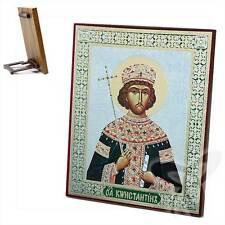 Icona SANTO Konstantin legno 15x18 Святой Константин икона