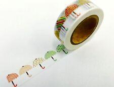 Rainbow Umbrella Spring Washi Tape Papercraft Planner Supply Scrapbook Journal