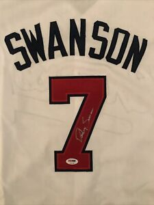 Dansby Swanson Autographed Atlanta Braves Jersey - PSA/DNA COA