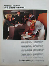 3/1993 PUB LUFTHANSA GERMAN AIRLINES FLIGHT CREW TRAINING PILOT HOSTESS AD