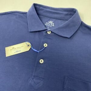 Peter Millar Seaside Men's ATL Navy Blue Pocket Short Sleeve Polo Golf Shirt New