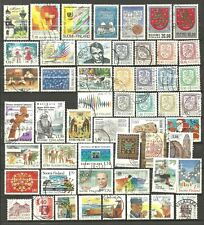 FINLAND - 52 used stamps from the 1980's