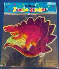 Dinosaur Party Prehistoric Birthday Favor Jumbo Stegosaurus Scrapbook Sticker