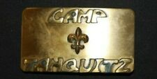 Camp Tahquitz Solid Brass Belt Buckle 1970's