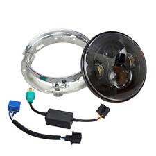 "7"" For Harley Daymaker Hi/Lo HID LED Headlight Bulb DRL Headlamp Black+ Trim Rin"