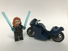 LEGO sh629 Black Widow Figure includes bike Marvel Super Heroes 76162