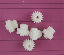 50pc Double deck Plastic Cogs Gear 2.05mm Hole dia 16 Teeth 10 Teeth 16102B