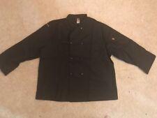 Chef Design Adult Large Solid Black Restaurant Chef Coat Jacket