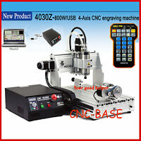 USB four 4 axis 3040 800W cnc router engraver engraving milling caving machine