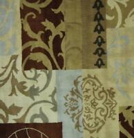 100% Wool Patchwork Design 4x6 Oushak Agra Oriental Area Rug Carpet 6' 1 x 4' 3