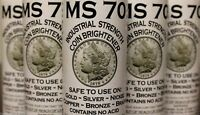 MS70 Coin Brightener Solution MS-70 Gold Silver Copper Nickel Cleaing Shine 8oz