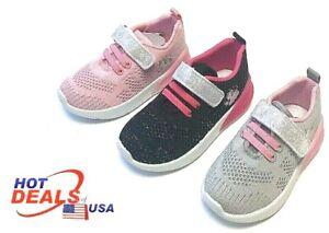 New Girl Baby Toddler Tennis Athletic Sport Shoes Hoop & Loop Fastener Outdoor