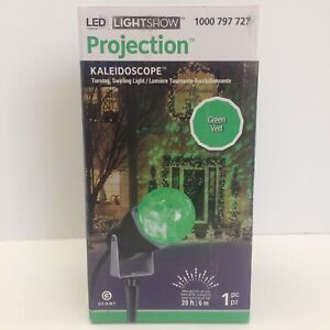 Gemmy LED Lightshow Projection Kaleidoscope GREEN Christmas Light Indoor Outdoor