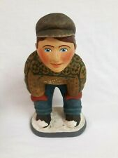 "Department 56 Leo Smith Our Town Collection ""Snowman"" Boy In Snow Figurine"
