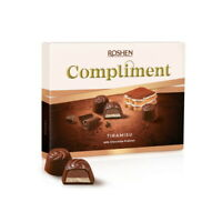 "Ukrainian Sweets Box ROSHEN Milk Chocolate Candy ""COMPLIMENT"" Tiramisu 120g"