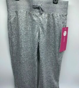 Girls Size L(12) Super Soft Yogalicious Heather Gray Joggers By Reflex $42Val