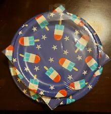 Creative Converting Patriotic Guest Dinner Napkins, Dessert & Dinner Plates