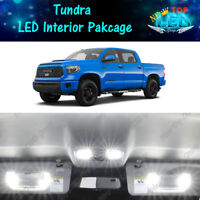 17x White LED Lights Interior Package Kit for 2007 - 2019 2020 Toyota Tundra