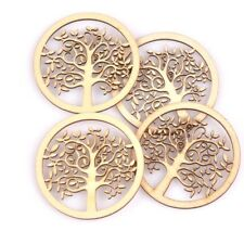 10pcs Round tree Pattern Natural wooden Scrapbooking Carft Handmade Tree of Life
