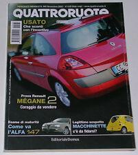 QUATTRORUOTE 11/2002 CHRYSLER PT CRUISER CRD - BMW 730D / 740D - MAZDA 6 2.0 16V