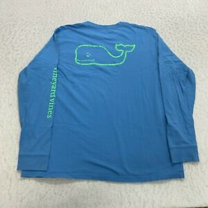 Vineyard Vines Long Sleeve Pocket T-Shirt Youth Size XL Blue Whale Graphic
