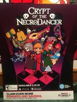 crypt of the necrodancer Poster Video Game Store Display Promo Ad