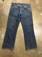 Lucky Brand Dungarees Slim Bootleg Button Fly Men's blue Jeans 32 X 30