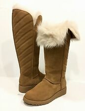 UGG 1012390 ROSALIND TALL BOOTS BROWN CHESTNUT TOSCANA SHEEPSKIN -US SIZE 7 -NEW