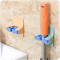 GI- FT- Wall Mount Mop Broom Brush Clamp Holder Hanger Rack Home Organizer Tool