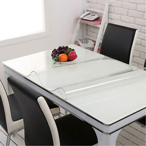 Plastic Transparent Tablecloth Protector Waterproof Clear Table Cover 0.039''