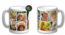 Monkey Collage Personalised Monkey Mug. Customise with your own text.FOC. IL5350